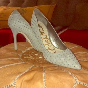 Sam Edelman Grey Studded Heels
